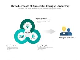 Three Elements Of Successful Thought Leadership