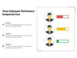 Three Employees Performance Comparison Icon