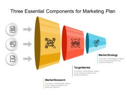 Three Essential Components For Marketing Plan