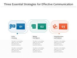 Three Essential Strategies For Effective Communication