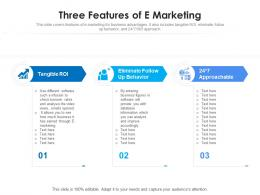 Three Features Of E Marketing
