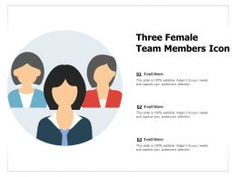 Three Female Team Members Icon