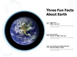 Three Fun Facts About Earth