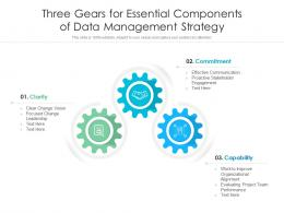 Three Gears For Essential Components Of Data Management Strategy