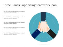 Three Hands Supporting Teamwork Icon