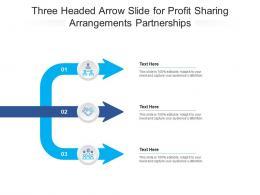Three Headed Arrow Slide For Profit Sharing Arrangements Partnerships Infographic Template