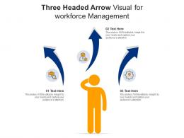 Three Headed Arrow Visual For Workforce Management Infographic Template