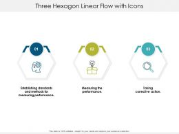 Three Hexagon Linear Flow With Icons