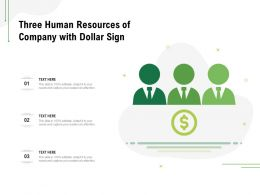 Three Human Resources Of Company With Dollar Sign