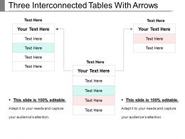 Three Interconnected Tables With Arrows