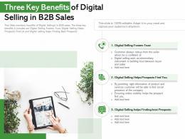 Three Key Benefits Of Digital Selling In B2B Sales