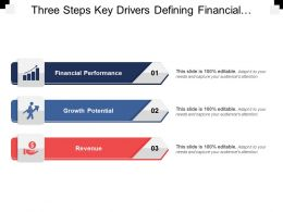 Three Key Drivers Defining Financial Performance Growth Potential Revenue And Customer Satisfaction