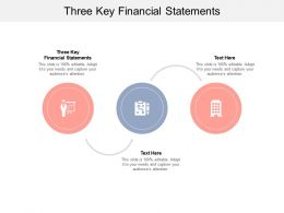 Three Key Financial Statements Ppt Powerpoint Presentation Professional Layout Cpb