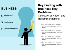 three_key_finding_with_business_key_problems_objective_of_report_and_recommendations_Slide01