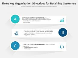 Three Key Organization Objectives For Retaining Customers