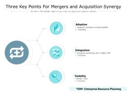 Three Key Points For Mergers And Acquisition Synergy