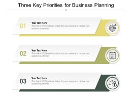 Three Key Priorities For Business Planning