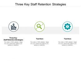 Three Key Staff Retention Strategies Ppt Powerpoint Presentation Shapes Cpb