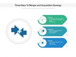 Three Keys To Merger And Acquisition Synergy