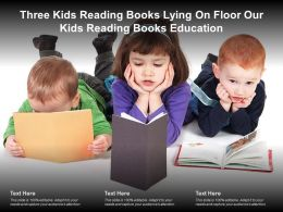 Three Kids Reading Books Lying On Floor Our Kids Reading Books Education