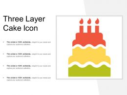 Three Layer Cake Icon