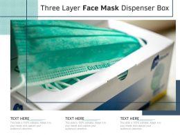 Three Layer Face Mask Dispenser Box