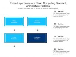 Three Layer Inventory Cloud Computing Standard Architecture Patterns Ppt Powerpoint Slide