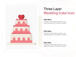 Three Layer Wedding Cake Icon