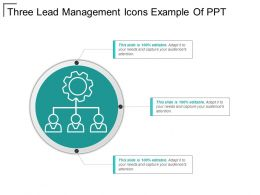 Three Lead Management Icons Example Of Ppt