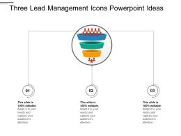 Three Lead Management Icons PowerPoint Ideas