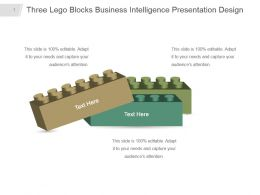 Three Lego Blocks Business Intelligence Presentation Design