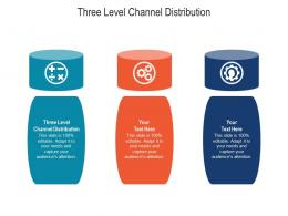 Three Level Channel Distribution Ppt Powerpoint Presentation Infographic Template Maker Cpb