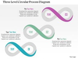 Three Level Circular Process Diagram Flat Powerpoint Design