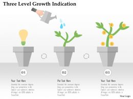 Three Level Growth Indication Flat Powerpoint Design