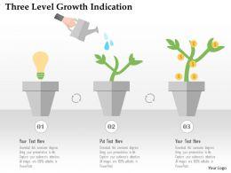 three_level_growth_indication_flat_powerpoint_design_Slide01