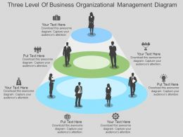 Three Level Of Business Organizational Management Diagram Flat Powerpoint Design