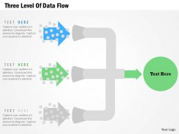 Three Level Of Data Flow Flat Powerpoint Design