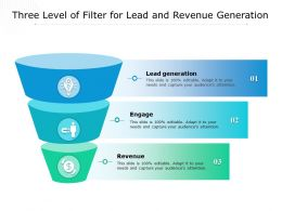 Three Level Of Filter For Lead And Revenue Generation