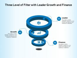 Three Level Of Filter With Leader Growth And Finance