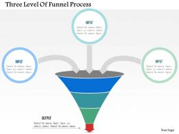 three_level_of_funnel_process_flat_powerpoint_design_Slide01
