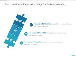 Three Level Puzzle Presentation Design For Business Networking