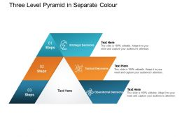 Three Level Pyramid In Separate Colour