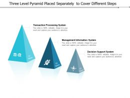 Three Level Pyramid Placed Separately To Cover Different Steps