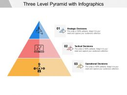 Three Level Pyramid With Infographics