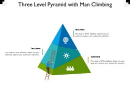 Three Level Pyramid With Man Climbing