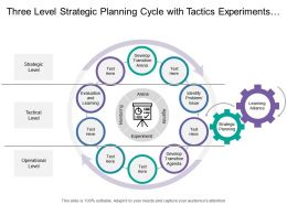 Three Level Strategic Planning Cycle With Tactics Experiments And Monitoring