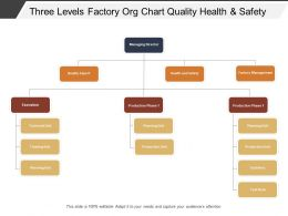 Three Levels Factory Org Chart Quality Health And Safety
