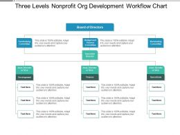 Three Levels Nonprofit Org Development Workflow Chart