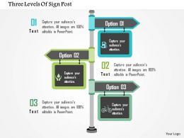 Three Levels Of Sign Post Flat Powerpoint Design