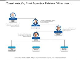 Three Levels Org Chart Supervisor Relations Officer Hotel Industry